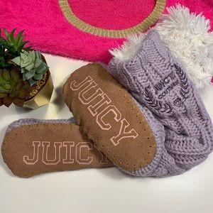 Juicy Couture Sherpa slipper socks